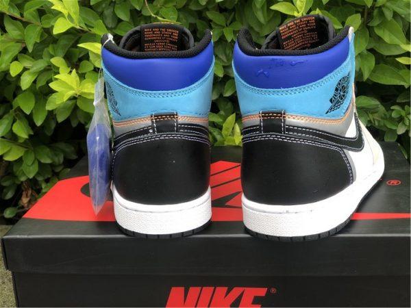 back heel Air Jordan 1 High OG Pro Multi-Color