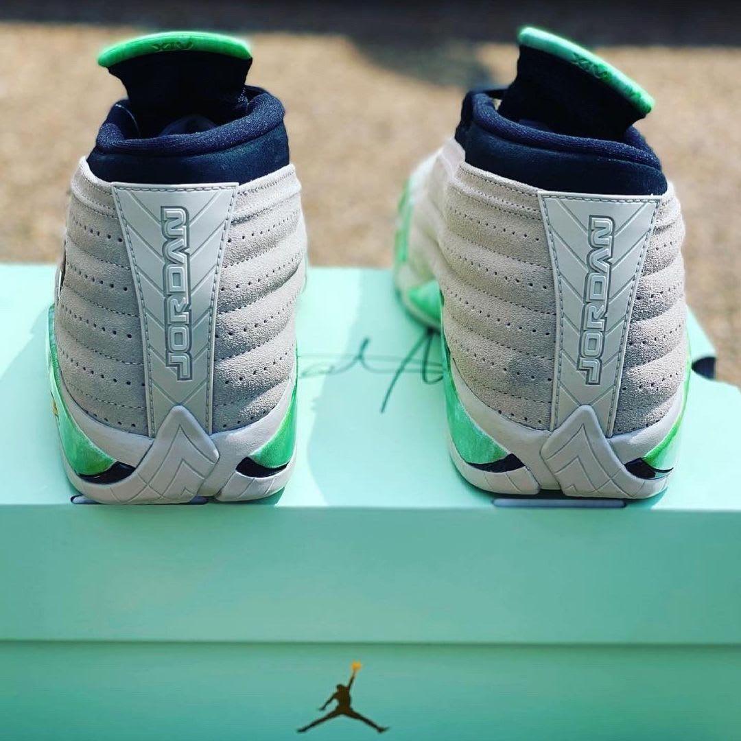 heel look Aleali May Air Jordan 14 Low