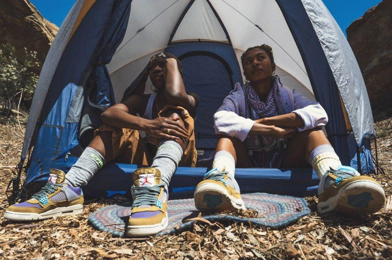 new Air Jordan 4 X Union LA Tent and Trail 2021
