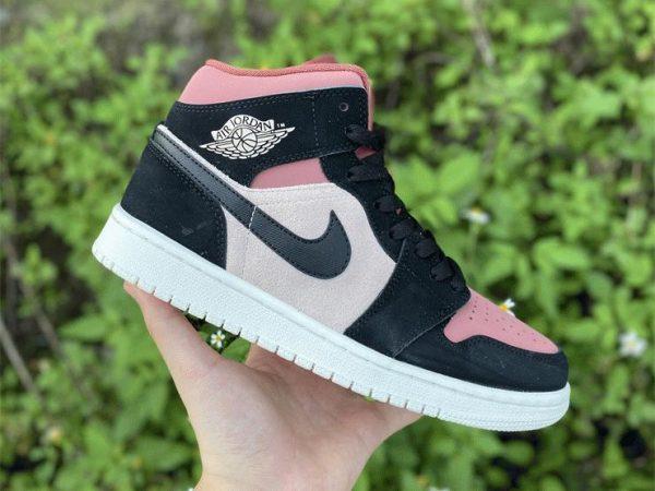 Air Jordan 1 Mid Canyon Rust lateral swoosh