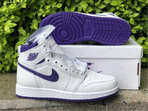 Air Jordan 1 Retro High Court Purple lateral side