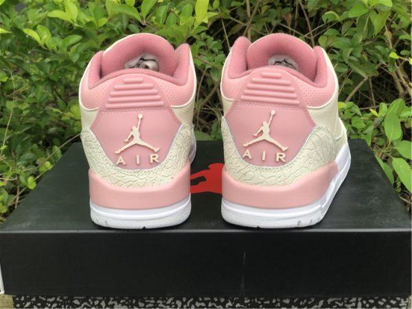Air Jordan 3 Retro Sail And Rust Pink heel