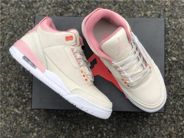 Air Jordan 3 Retro Sail And Rust Pink lateral side