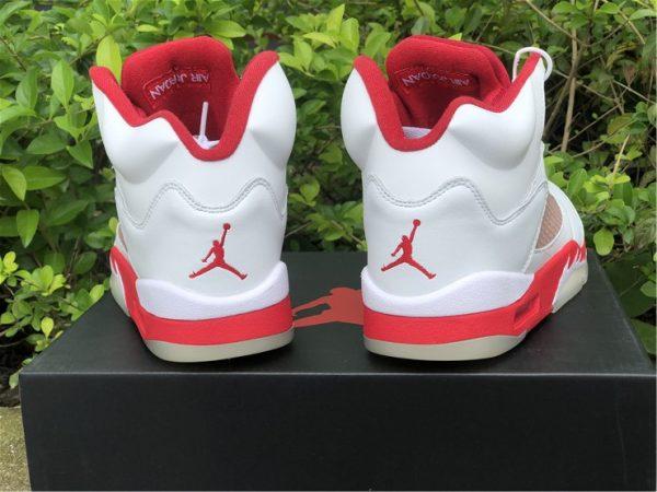 Air Jordan 5 Pink Foam heel
