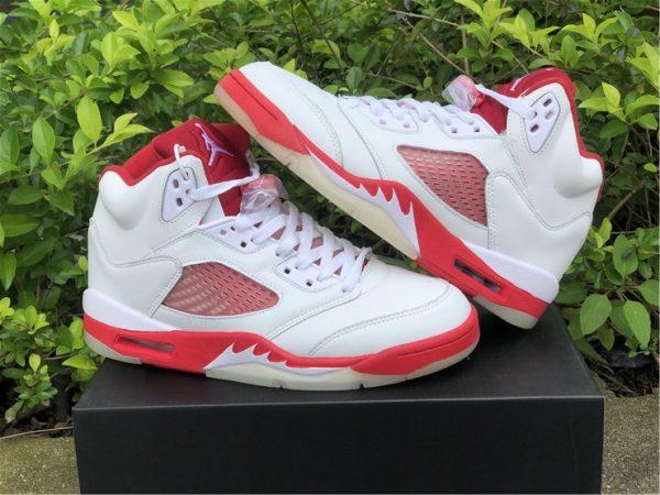 Air Jordan 5 Pink Foam medial side