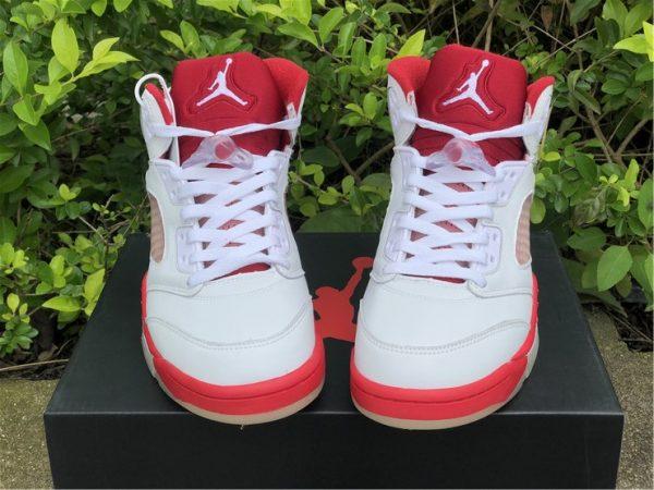 Air Jordan 5 Pink Foam vamp look