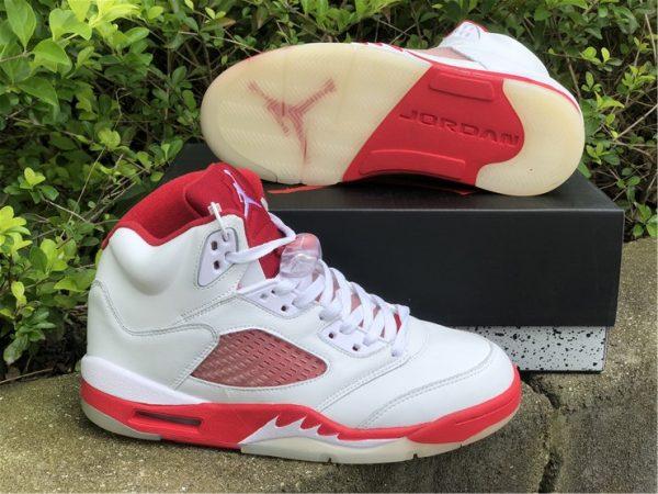 Air Jordan 5 Pink Foam white