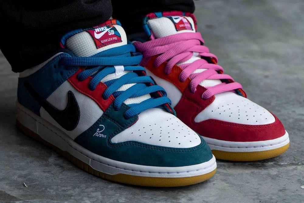 Asymmetrical Colorblocking Parra Nike SB Dunk Low