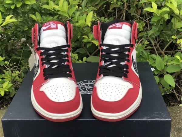 Dior x Air Jordan 1 High Chicago white tongue