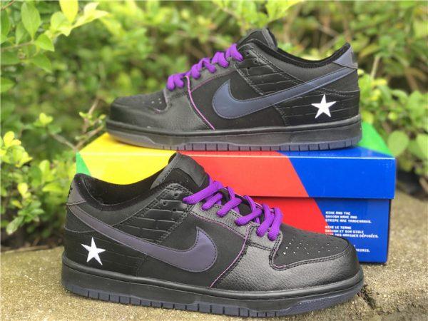 Nike SB Dunk Low Familia First Avenue Purple white stars