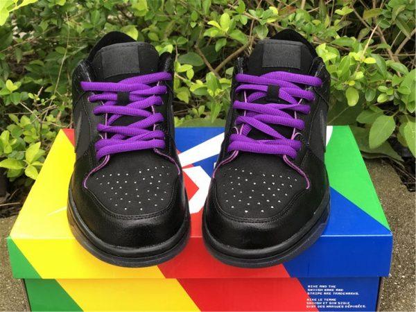 SB Dunk Low Familia First Avenue Purple shoelaces