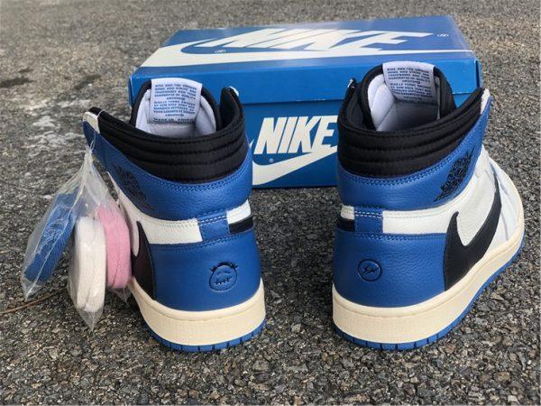 Travis Scott Fragment Jordan 1 Military Blue back heel