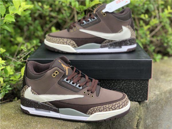 Travis Scott x Air Jordan 3 Brown shoes
