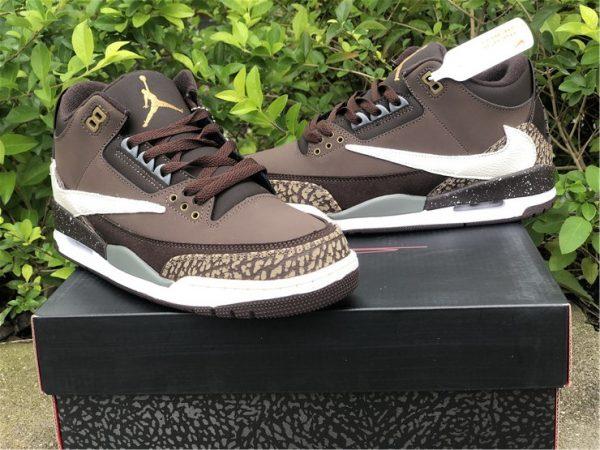 Travis Scott x Air Jordan 3 Brown sneaker