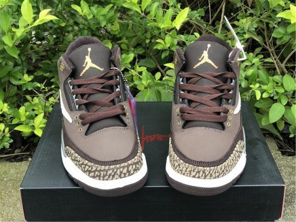 Travis Scott x Air Jordan 3 Brown tongue