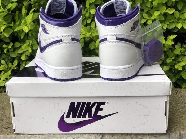 back heel Air Jordan 1 Retro High Court Purple
