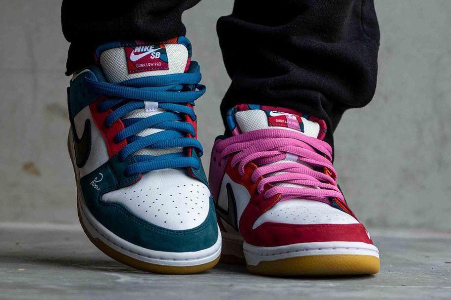 jordansupdate.com_Parra Nike SB Dunk Low on feet front look