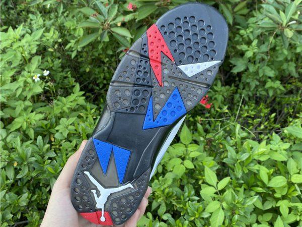 new Air Jordan 7 PSG underfoot