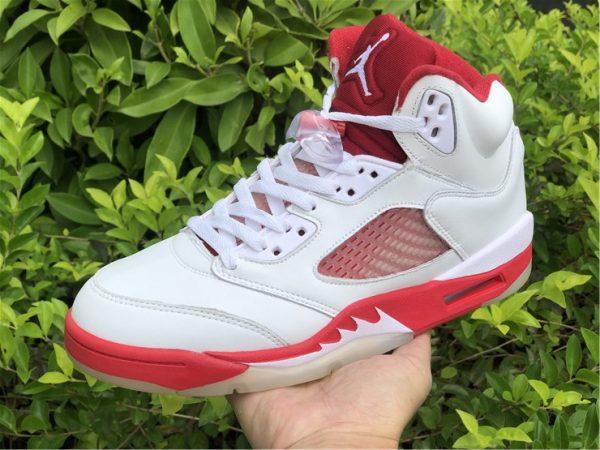on hand look at Air Jordan 5 Pink Foam