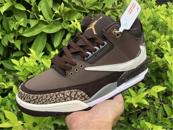 on hand look at Travis Scott x Air Jordan 3