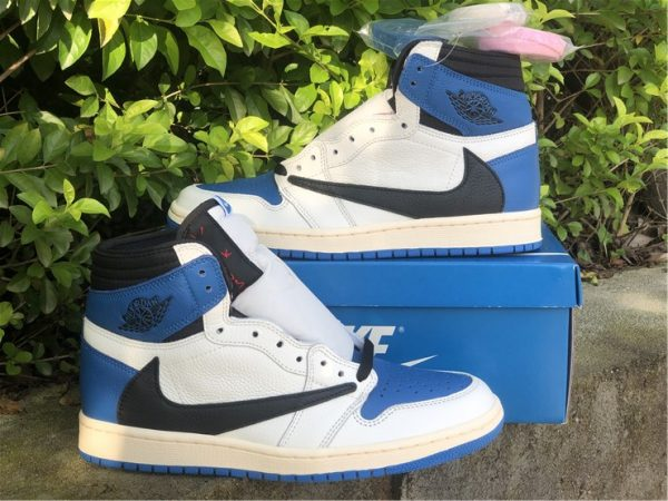 shop Travis Scott Fragment Jordan 1 Military Blue