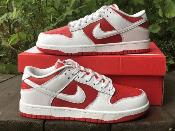 2021 Nike Dunk Low White University Red