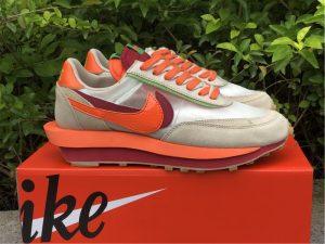 2021 Nike LDWaffle CLOT sacai Net Orange Blaze