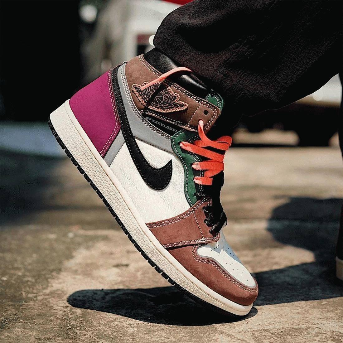 Air Jordan 1 High OG Handcrafted on feet look