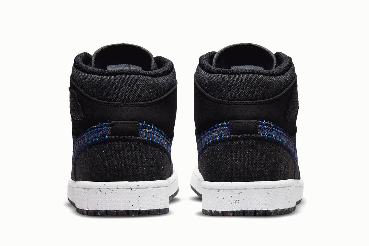 Air Jordan 1 Mid Sustainable Materials back heel