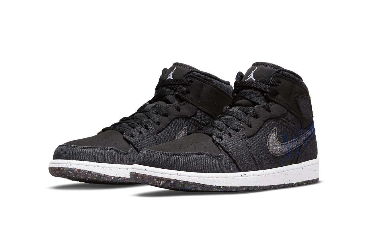 Air Jordan 1 Mid Sustainable Materials overall