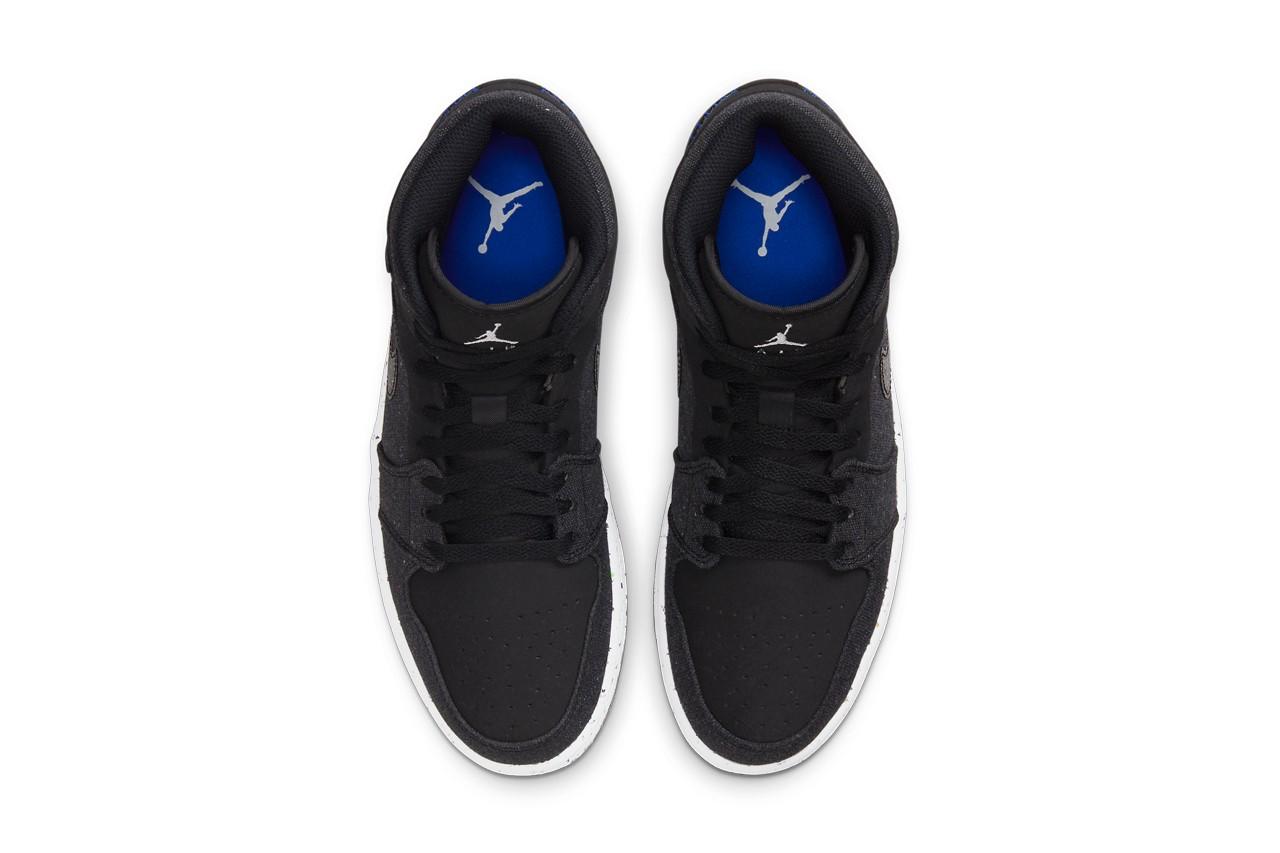 Air Jordan 1 Mid Sustainable Materials tongue