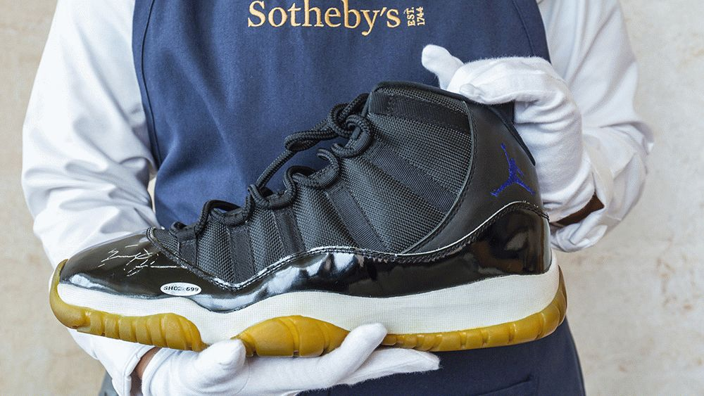 How Much is Michael Jordans Unworn Signed Space Jam Sneakers