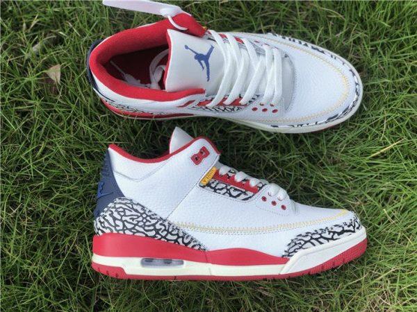 Air Jordan 3 Cement Navy Red White mens