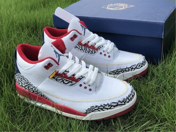Air Jordan 3 Cement Navy Red White overall