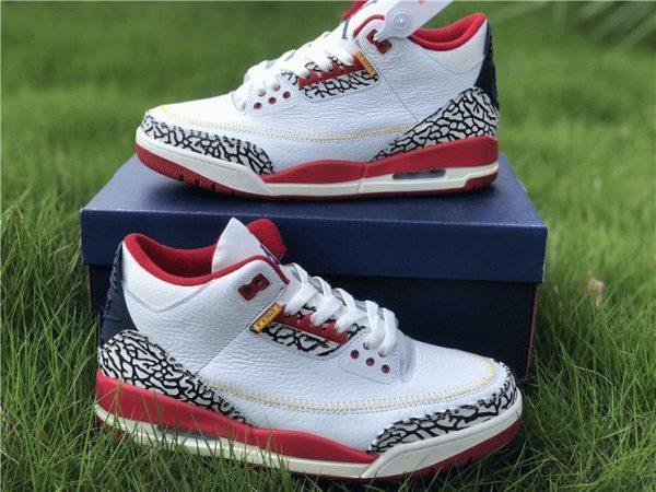 Air Jordan 3 Cement Navy Red White sneaker