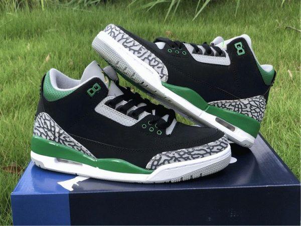 Air Jordan 3 Pine Green lateral side