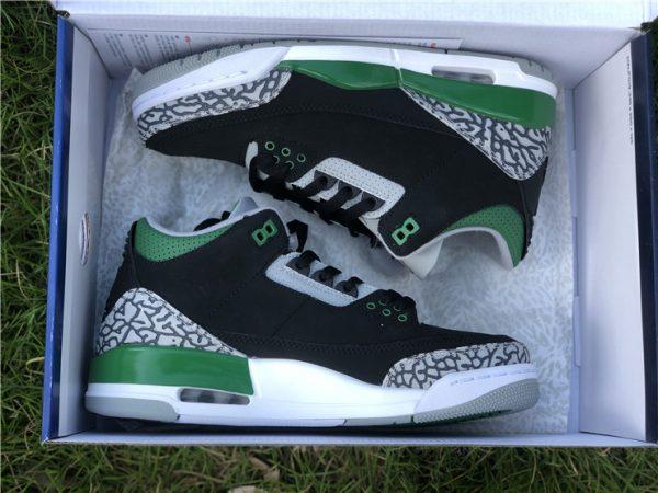 Air Jordan III Pine Green in box