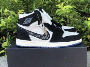 Dior x Air Jordan 1s Black White