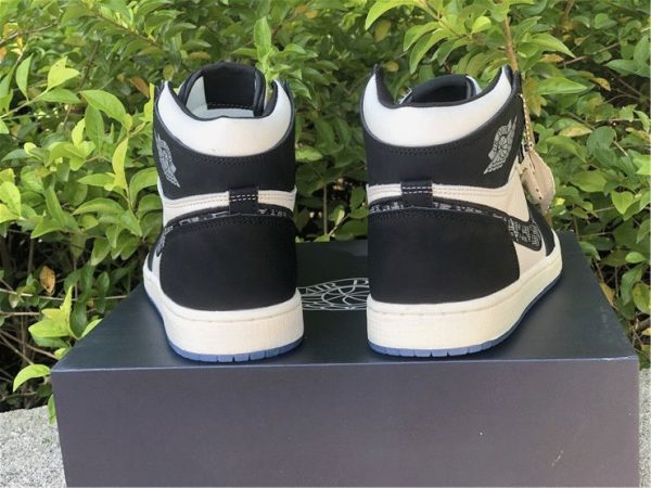 Dior x Air Jordan 1s Black White HEEL
