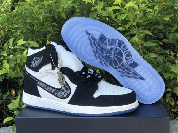 Dior x Air Jordan 1s Black White for sale