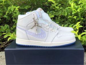 Dior x Air Jordan 1s White Grey