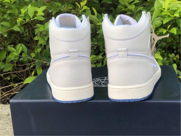 Dior x Air Jordan 1s White Grey heel