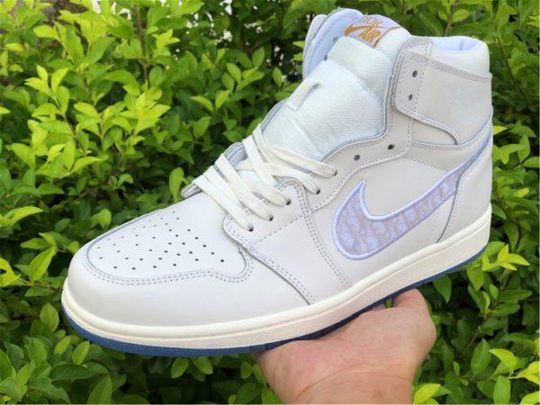 Dior x Air Jordan 1s White Grey on hand