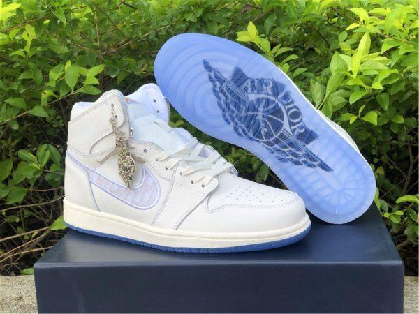 Dior x Air Jordan 1s White Grey relase