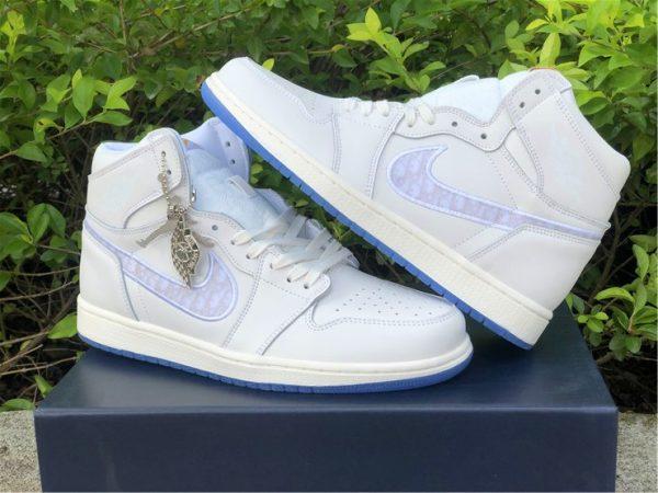 Dior x Air Jordan 1s White Grey sneaker