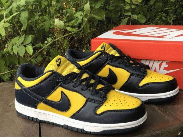 Nike Dunk Low Michigan Varsity Maize Navy overall