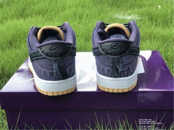Nike Dunk Low N7 2021 Dark Raisin back heel