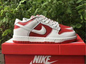 Nike Dunk Low White University Red