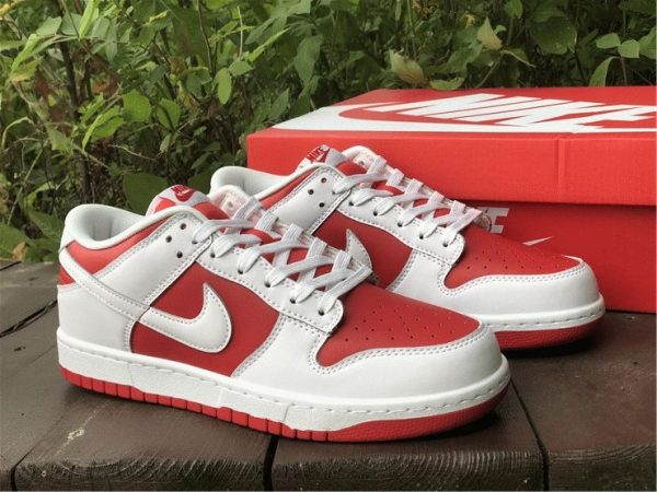 Nike Dunk Low White University Red for sale