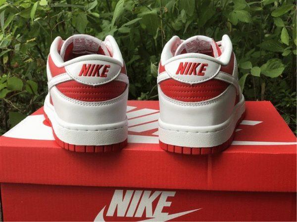 Nike Dunk Low White University Red heel